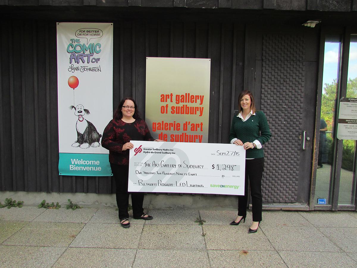 Art Gallery of Sudbury Greater Sudbury Hydro Energy Savers Cheque