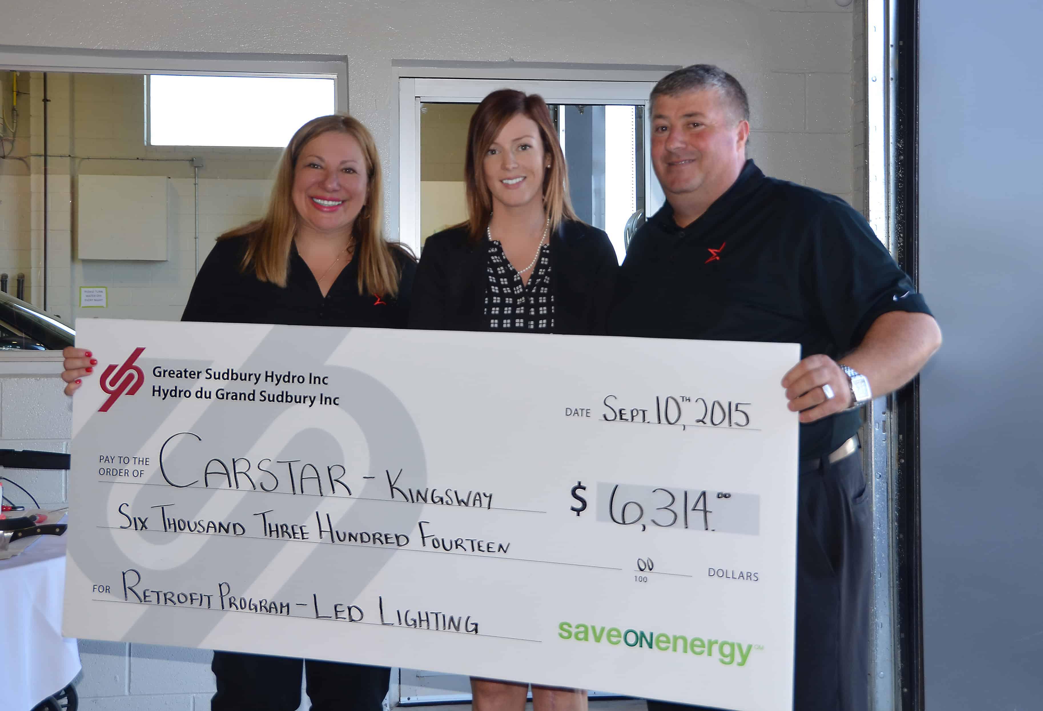 Greater Sudbury Hydro Energy Savers Carstar Kingsway Gianna & Tony Nero